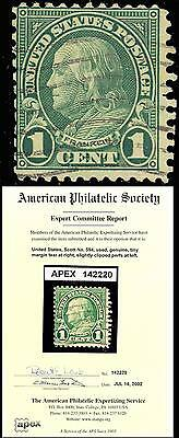 594, F-VF App APS CERT RARE! Cat $10,500.00 - CHB 3039