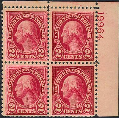 634b, CARMINE LAKE PLATE BLOCK W/PSE ONLY 4-5 KNOWN