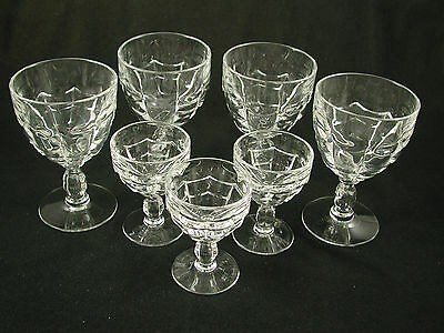 Cambridge CASCADE Crystal 7 Pc Set of WATER GOBLETS & COCKTAILS