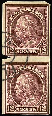 435 Var, VERTICAL IMPERFORATE PAIR WITH PFC - UNIQUE! * MEA15
