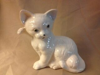 Vintage Ceramic Cat Figurine - Brazil