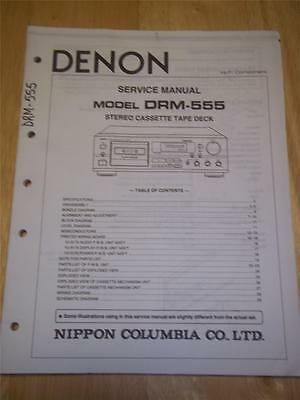 Denon Service Manual~DRM-555 Cassette Tape Deck~Original~/Repair