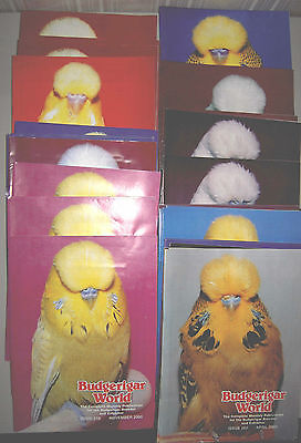 Budgerigar World Magazine - 24 Copies of Various Editions all different