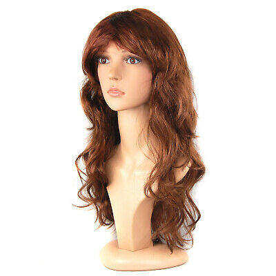 Women's Long Curly Fancy Dress Wigs Straight Costume Ladies Wig Fun Party - By