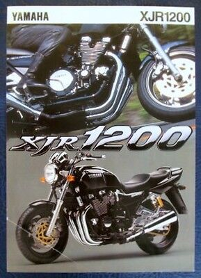 Yamaha Xjr1200 Motorcycle Sales Sheet C.1995.