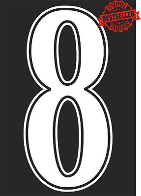 Single Football Shirt Number Iron On / Heatpress Vinyl Transfer Only £1 White