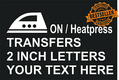3 for a £1 LETTERs IRON/HEATPRESS ON TRANSFER IN WHITE FOOTBALL SHIRT PRINTING
