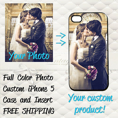 Personalized Photo iPhone 5 Custom Picture Printed on Hard Case Cover