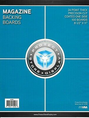 25 MAGAZINE SIZE COLLECTOR BAGS and 25 BACKING BOARDS FREE SHIPPING