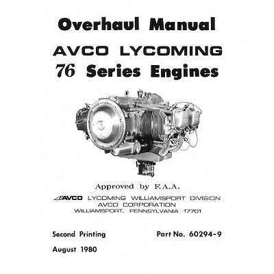 lycoming engine overhaul parts maintenance manuals 360 320 390 rh picclick com Lycoming O-540 Lycoming O-360 Prop Dimensions