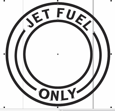 """Jet fuel Stickers/Decals (2)  2"""", 3"""" or 4"""" opening! Choose the opening size!"""