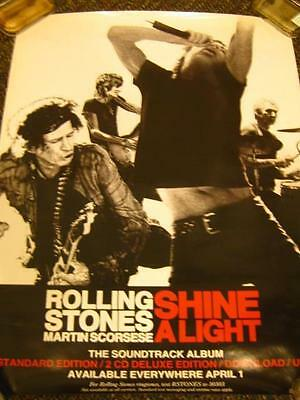 "Rolling Stones ""Shine A Light"" Documentary Promo Poster"