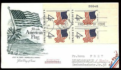 USA 1960, New US Flag FDC, Cover #C6066