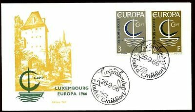 Luxembourg 1966 Europa FDC, Cover #C6080