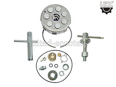 Vespa Px125 Px150 Clutch Assembly 21 Cogs 7 Spring With Tools And Plunger Kit