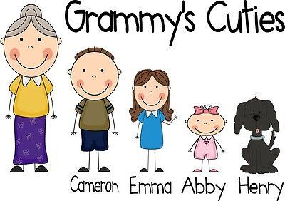 Grandma's Cuties Personalized T-shirt Custom Tee Grammy's Angels Nana's Darlings