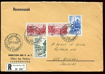 Luxembourg 1966 Tourism And European Centre FDC #C6157