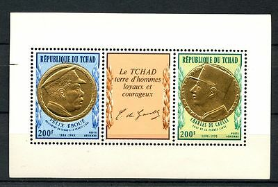 Chad 1971 SG#MS346 Charles de Gaulle MNH M/S #A31926