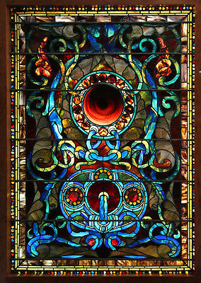 Stained Glass Window, Attr: John LaFarge, Antique #7556