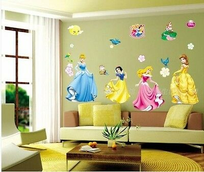 Disney Princess Removable Girls Wall Sticker Nursery Decor Kids Decal Art