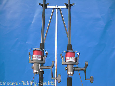 Sea Fishing Kit Set 2 Ngt 12Ft Beachcaster Rods 2 Ln7000 Reels+6Ft Parker Tripod