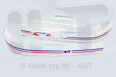 HDT VN Headlight Covers Holden Commodore Red & Blue Genuine 40157N / PAHDTNY1