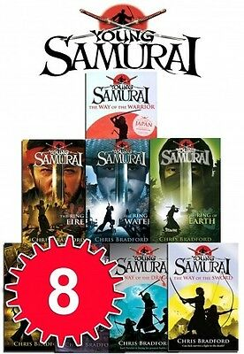 Young Samurai Series Collection Chris Bradford Pack 8 Books Set The Ring of Sky