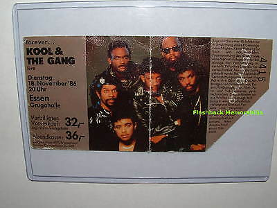 KOOL & THE GANG Concert COLOR PICTURE Ticket Stub 1986 ESSEN GERMANY Very Rare