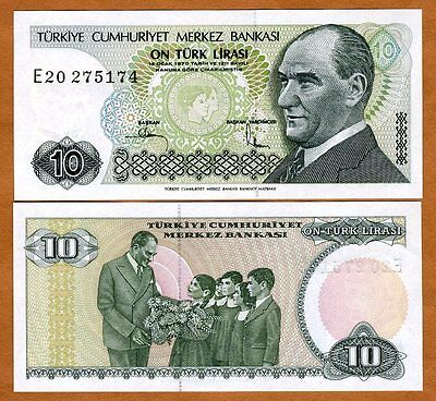 Turkey, 10 Lira, L. 1970 (1982), P-193, UNC