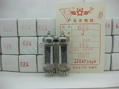2pcs NOS Beijing Peking 6Z4 6X4 6202  rectifier tube