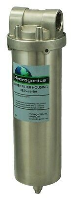 """Filter Housing, stainless steel, for 10""""L cartridges, Hydro-Genics - 1""""NPT ports"""