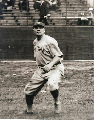 BABE RUTH  NEW YORK YANKEES  VINTAGE ACTION 8x10
