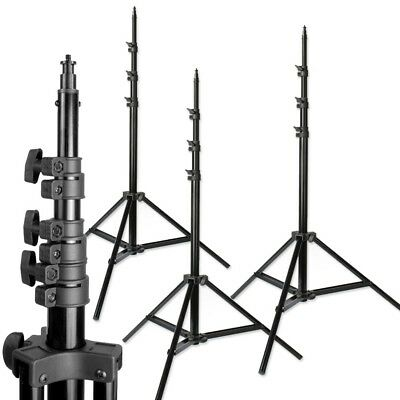 8ft Photo Studio Pro Heavy Duty Light Stands, Air cushioned,Steve Kaeser