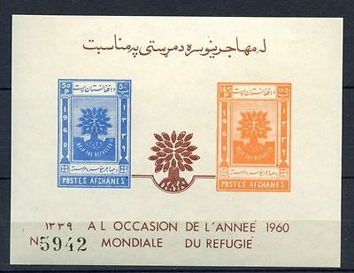 Afghanistan 1960 SG#MS455b World Refugee Year MNH Imperf M/S #A32406