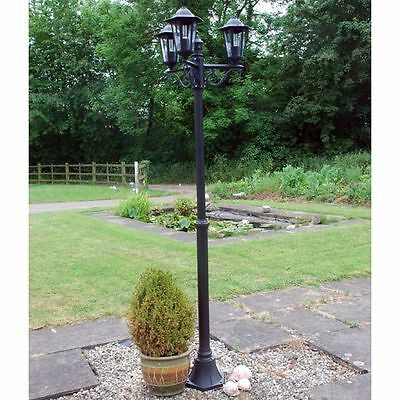 Victorian Outdoor Triple 3 Head Garden Pathway Path Lamp Post Light Lamppost