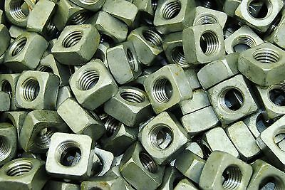 (75) Galvanized 5/8-11 Square Nut - Coarse Thread