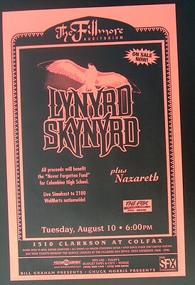 Lynyrd Skynyrd Fillmore Auditorium Poster    with  Nazareth  Excellent!!