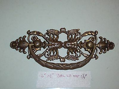 1 of 3 Total Vintage Antique Victorian Brass Drawer Pulls Very Ornate #89