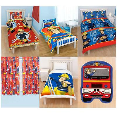 Fireman Sam Bedroom Accessories Bedding Furniture New & Official