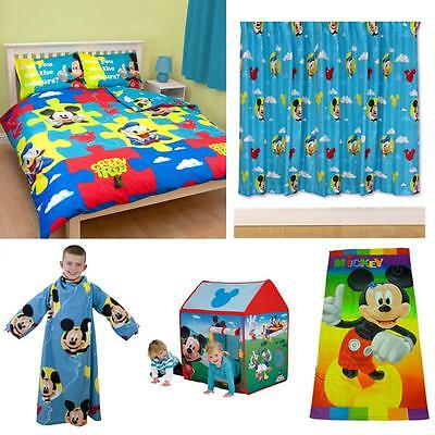 Disney Mickey Mouse Bedroom Accessories Bedding & Furniture New Official