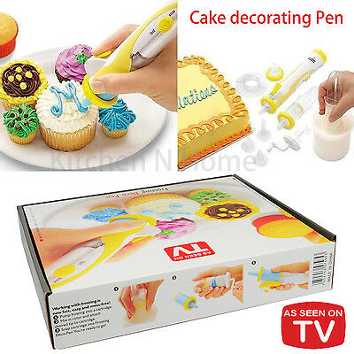 Cake decorating Pen✪Electric✪As seen on TV✪Frosting Deco Pen✪Cake decorating set