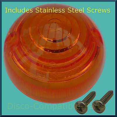 Land Rover Defender Indicator Light Lens + Stainless Steel Screws