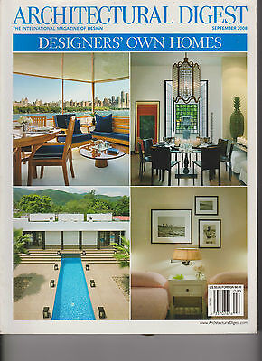 Architectural Digest Magazine September 2008 Designers' Own Homes