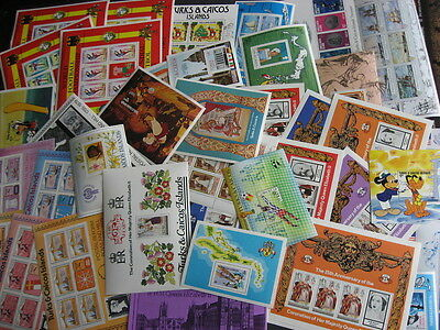 TURKS & CAICOS 38 different MNH souvenir sheets! Check them PLZ read description