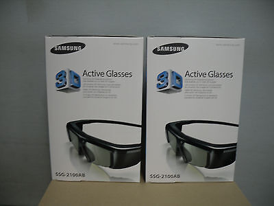 2 X genuine Samsung 3D TV Battery Operated Glasses SSG-2100AB