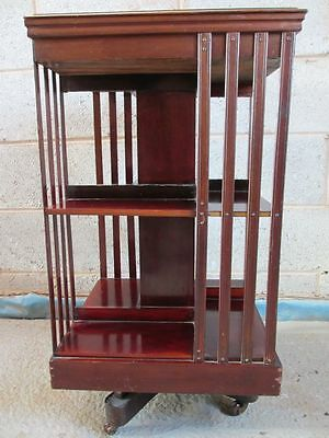 Victorian / Edwardian Mahogany two tier revolving bookcase (ref 1063)