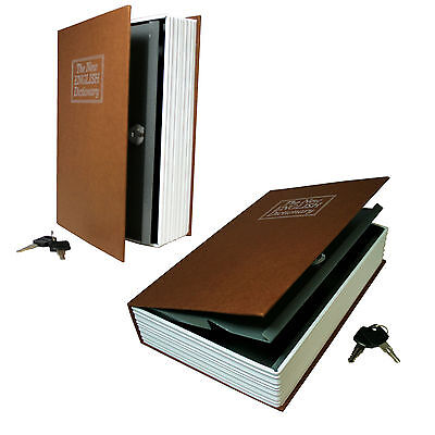 Secret Book Hidden Safe With Key Lock Book Safe In Brown(Large Size)Dictionary