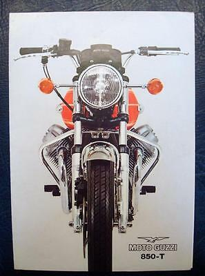MOTO GUZZI 850T - Motorcycle Sales Brochure