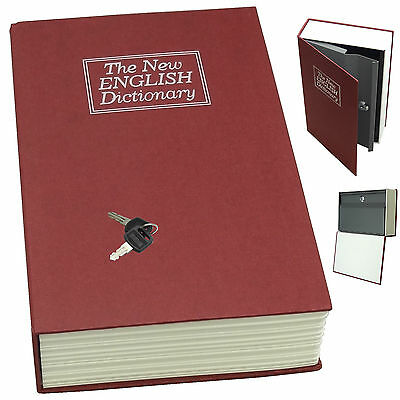 Dictionary Secret Book Hidden Safe With Key Lock Book Safe In RED (Middle Size)