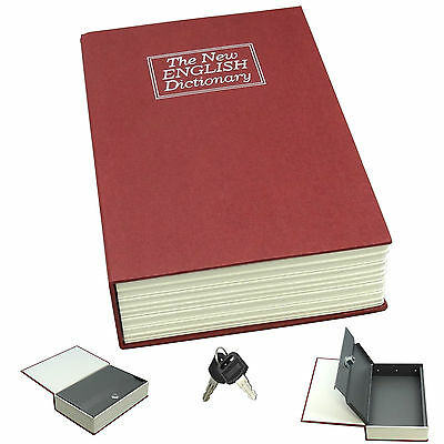 Dictionary Diversion Book Safe w/ Key Lock ~ Metal ~ Red (Medium)